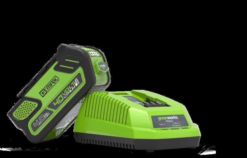 40v Greensworks4.0A/H Battery & Charger